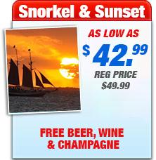 key west snorkel sunset