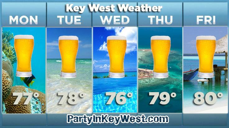 key west beer weather quote