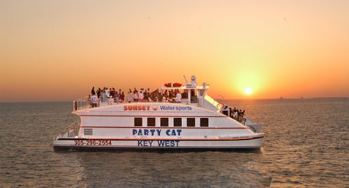 Dine in the Air Conditioned Main Cabin and watch the Famous Key West Sunsets you listen to Live Music from the upper deck. INCLUDES: unlimited Margaritas, Rum Runners, Well Mixed Drinks, Draft Beer, Wine, Champagne & Soft Drinks.